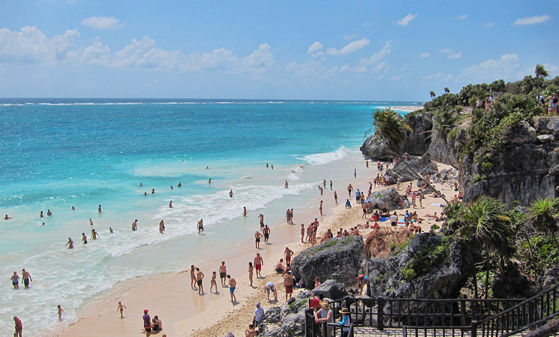 A Visit To White Limestone Sand Tulum Beach Will Be Eye Treat For Those Looking Soak Into Crystal Blue Waters There Is An Aura Of Mystery Around The